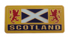 Scotland St Andrew's Saltire & Lions Rampant Pin Badge (T1289)